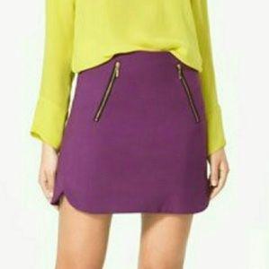 Zara Size Small Purple Skirt With Zippers